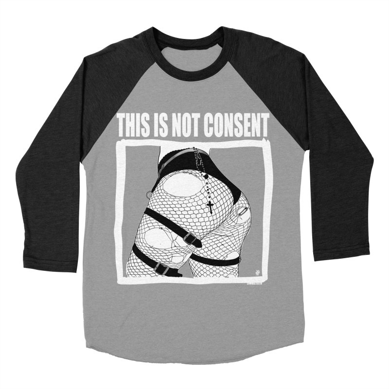 This is not consent (black) Women's Baseball Triblend Longsleeve T-Shirt by ZOMBIETEETH