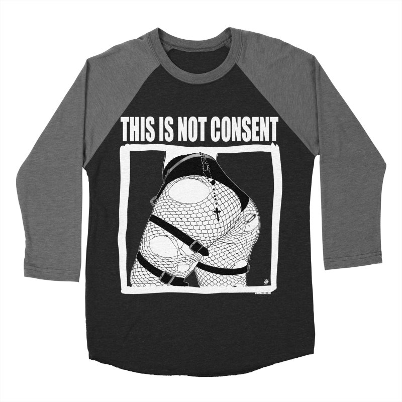 This is not consent (black) Men's Baseball Triblend Longsleeve T-Shirt by ZOMBIETEETH