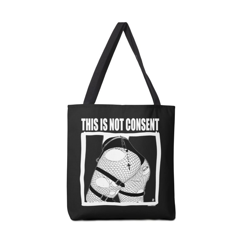 This is not consent (black) Accessories Tote Bag Bag by ZOMBIETEETH