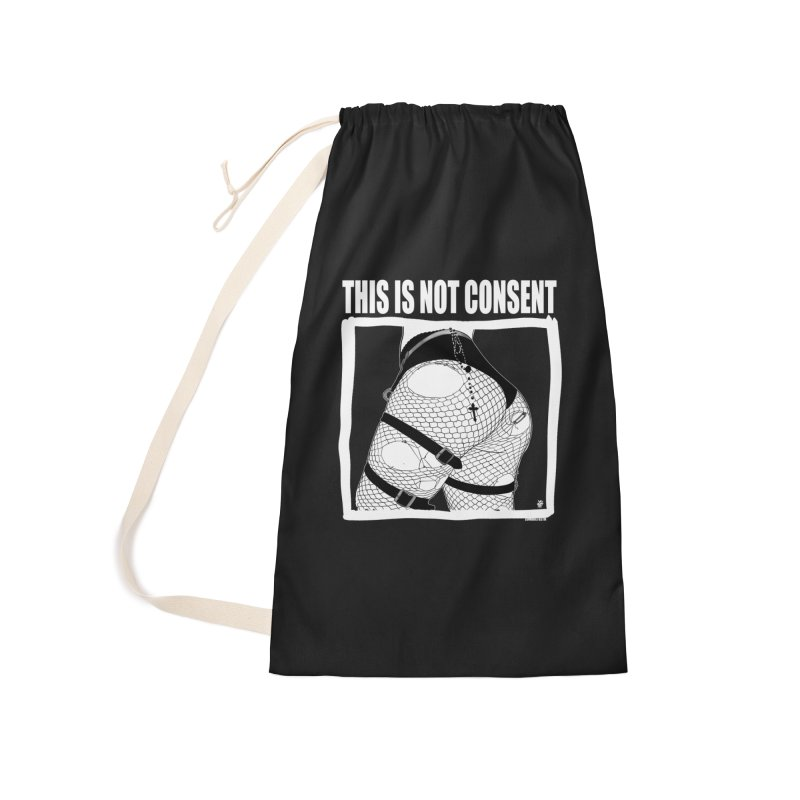 This is not consent (black) Accessories Laundry Bag Bag by ZOMBIETEETH