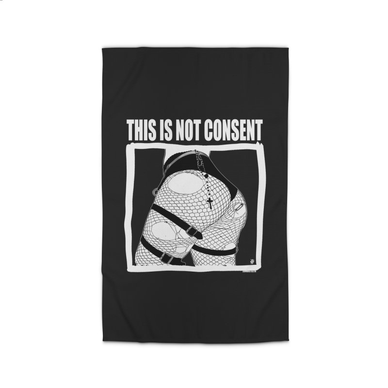 This is not consent (black) Home Rug by ZOMBIETEETH