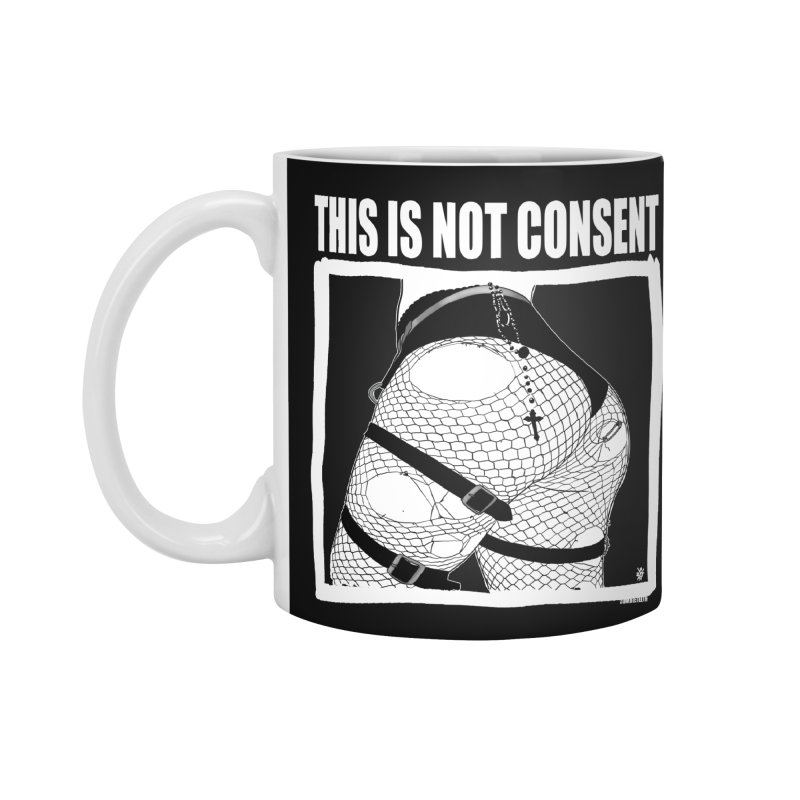 This is not consent (black) Accessories Standard Mug by ZOMBIETEETH