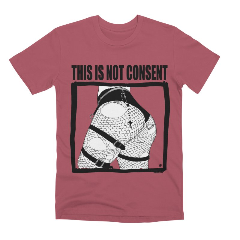This is not consent (various colors) Men's T-Shirt by ZOMBIETEETH