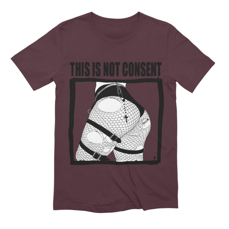 This is not consent (various colors) Men's Extra Soft T-Shirt by ZOMBIETEETH