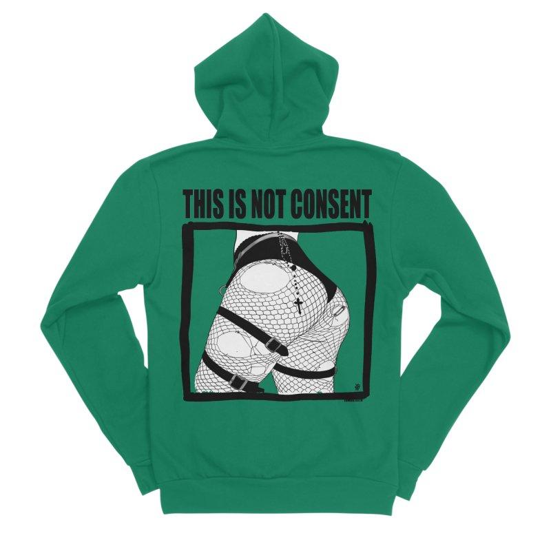 This is not consent (various colors) Women's Sponge Fleece Zip-Up Hoody by ZOMBIETEETH