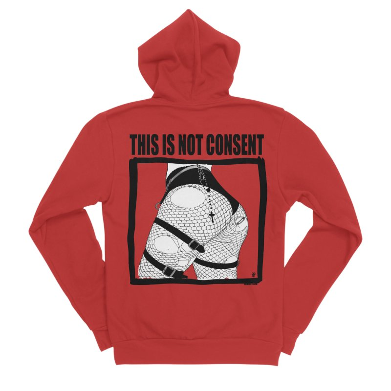 This is not consent (various colors) Men's Zip-Up Hoody by ZOMBIETEETH