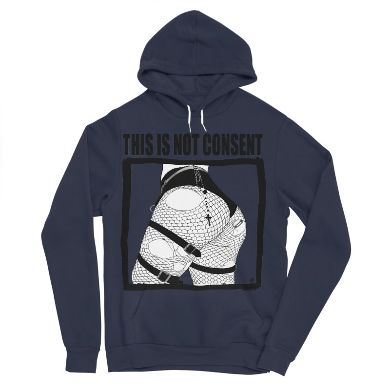 This is not consent (various colors) Men's Sponge Fleece Pullover Hoody by ZOMBIETEETH