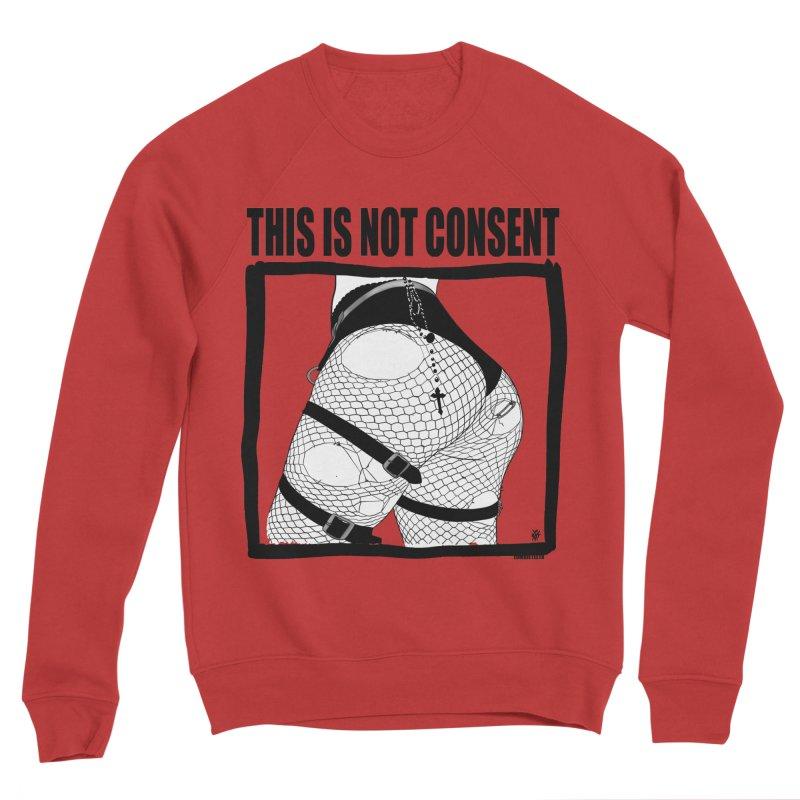 This is not consent (various colors) Men's Sponge Fleece Sweatshirt by ZOMBIETEETH