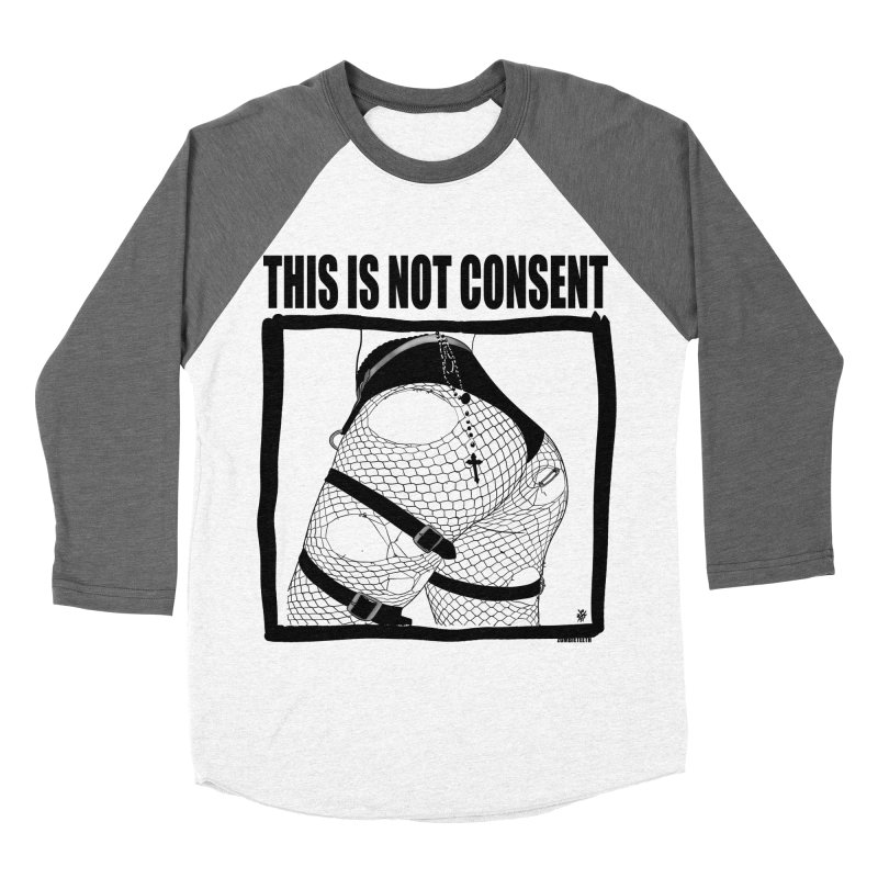 This is not consent (various colors) Men's Baseball Triblend Longsleeve T-Shirt by ZOMBIETEETH