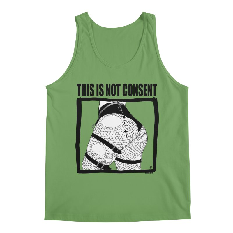 This is not consent (various colors) Men's Tank by ZOMBIETEETH