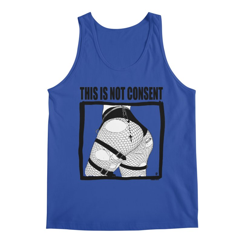 This is not consent (various colors) Men's Regular Tank by ZOMBIETEETH
