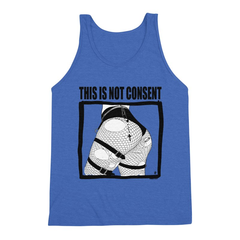 This is not consent (various colors) Men's Triblend Tank by ZOMBIETEETH