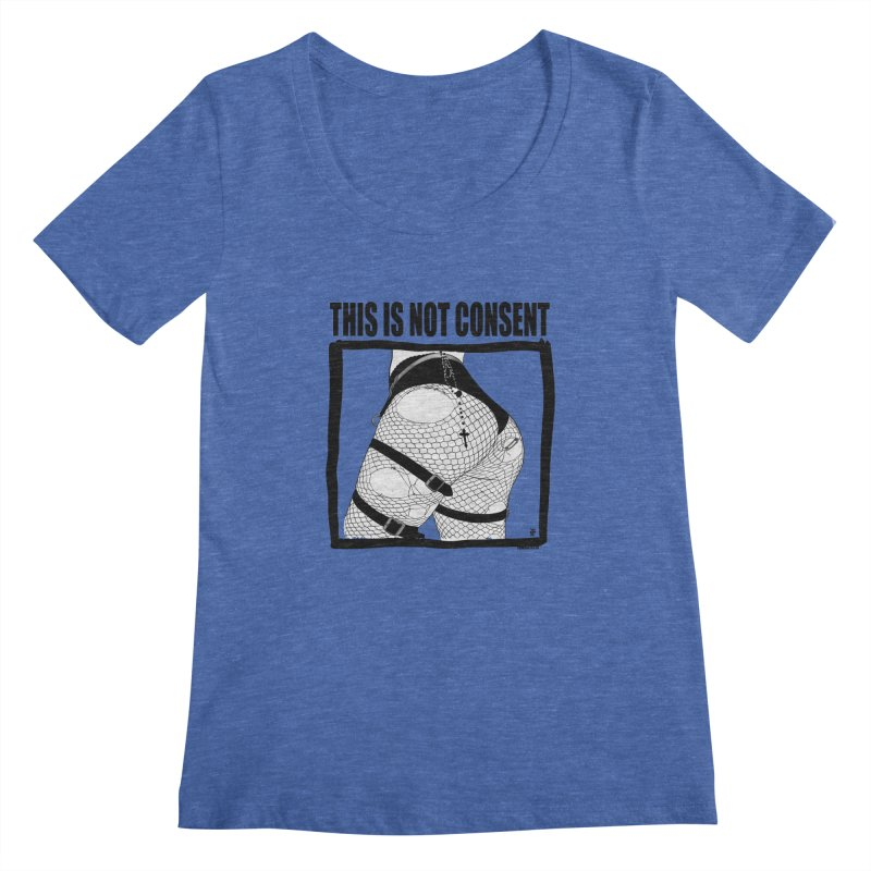 This is not consent (various colors) Women's Regular Scoop Neck by ZOMBIETEETH