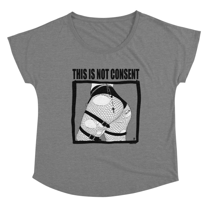 This is not consent (various colors) Women's Scoop Neck by ZOMBIETEETH