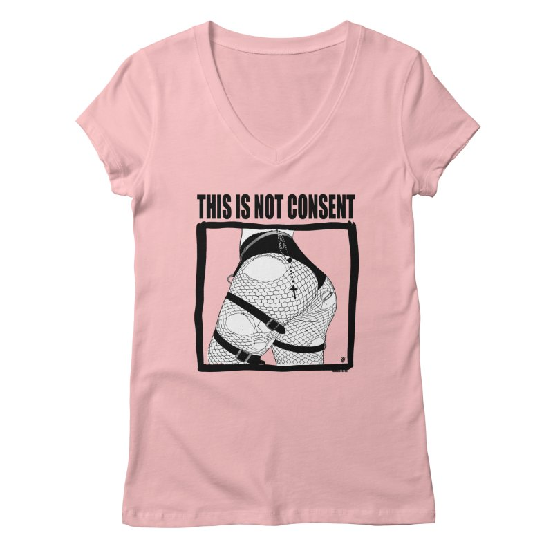 This is not consent (various colors) Women's Regular V-Neck by ZOMBIETEETH