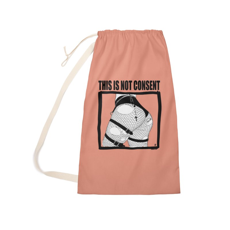 This is not consent (various colors) Accessories Laundry Bag Bag by ZOMBIETEETH