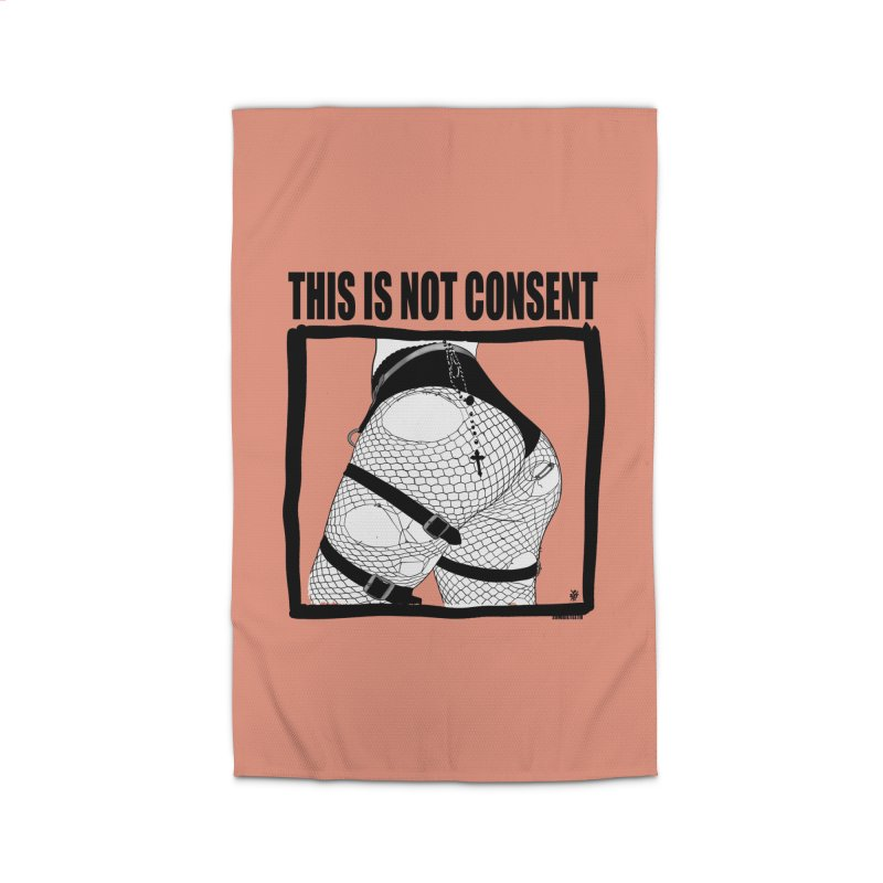 This is not consent (various colors) Home Rug by ZOMBIETEETH