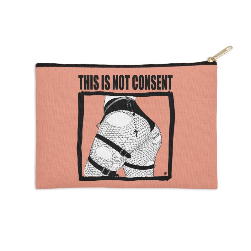 This is not consent (various colors) Accessories Zip Pouch by ZOMBIETEETH