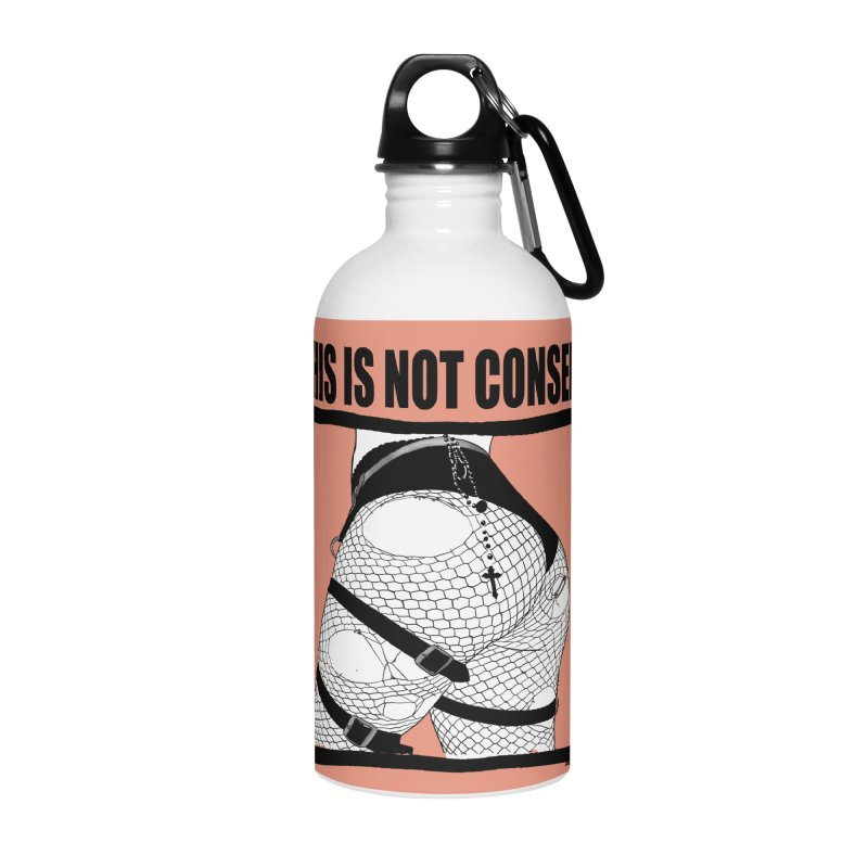This is not consent (various colors) Accessories Water Bottle by ZOMBIETEETH