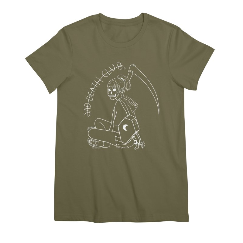 Sad death club Women's Premium T-Shirt by ZOMBIETEETH
