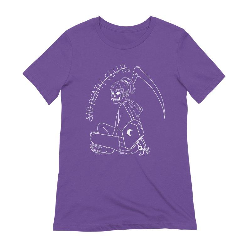 Sad death club Women's Extra Soft T-Shirt by ZOMBIETEETH
