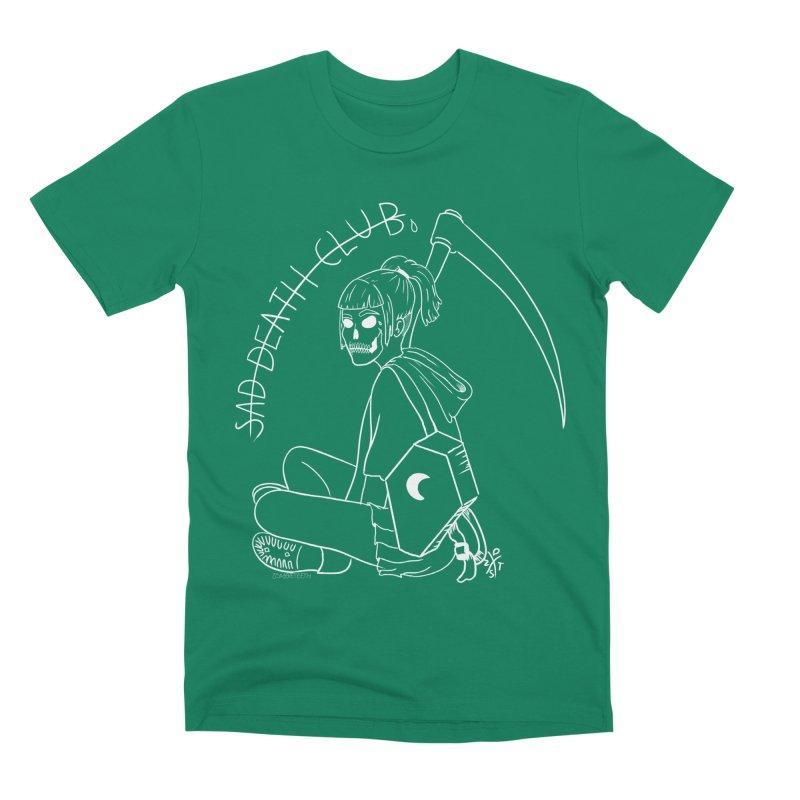 Sad death club Men's Premium T-Shirt by ZOMBIETEETH