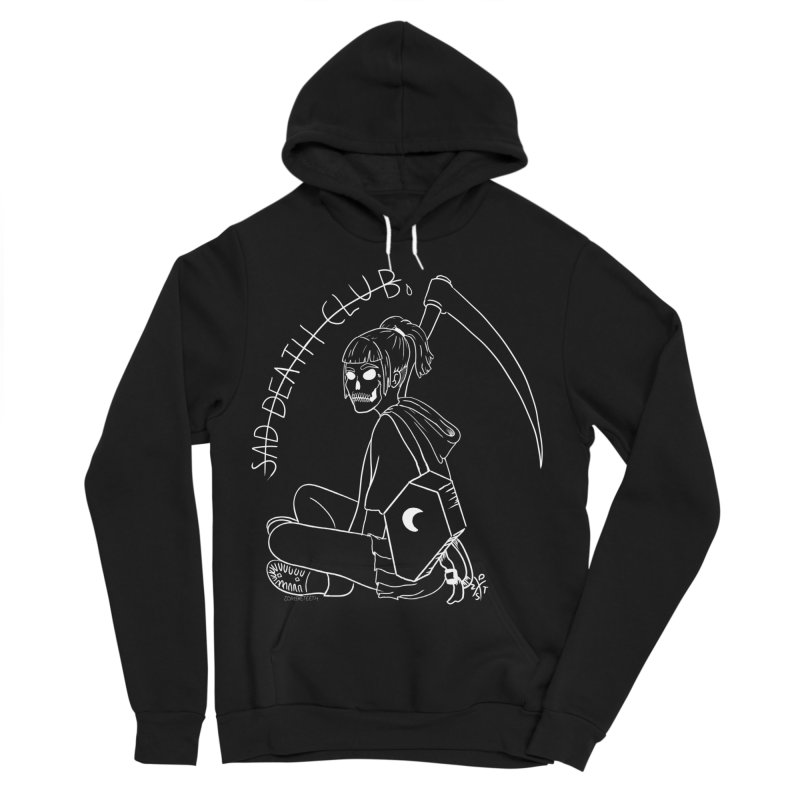 Sad death club Women's Sponge Fleece Pullover Hoody by ZOMBIETEETH