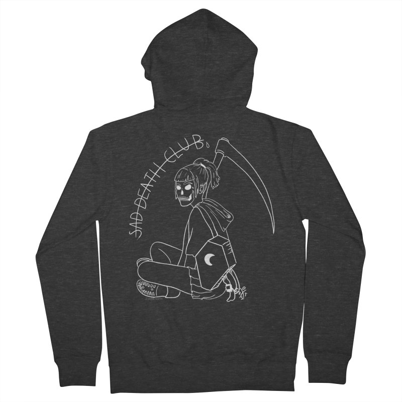 Sad death club Women's French Terry Zip-Up Hoody by ZOMBIETEETH