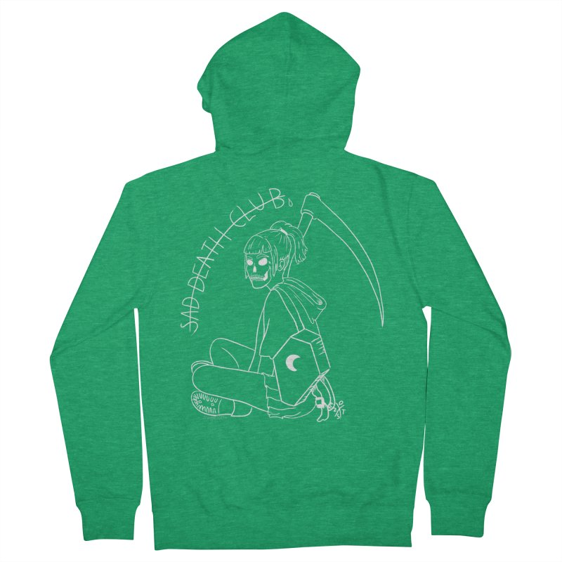 Sad death club Men's French Terry Zip-Up Hoody by ZOMBIETEETH