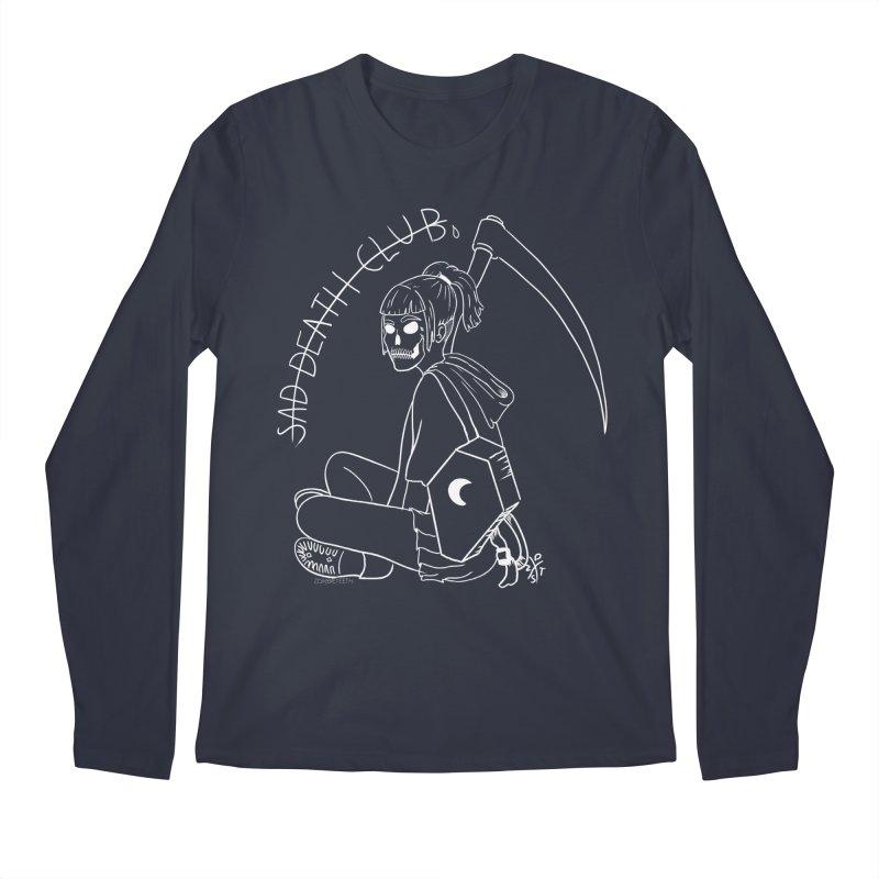 Sad death club Men's Regular Longsleeve T-Shirt by ZOMBIETEETH