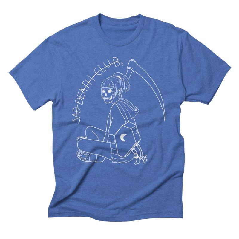Sad death club Men's Triblend T-Shirt by ZOMBIETEETH
