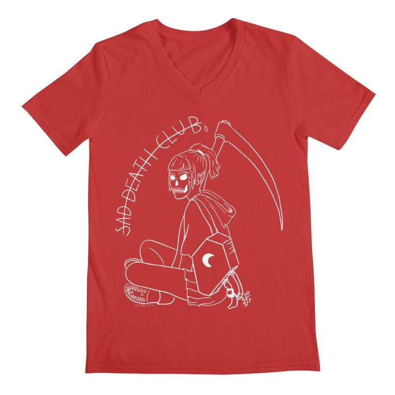 Sad death club Men's V-Neck by ZOMBIETEETH