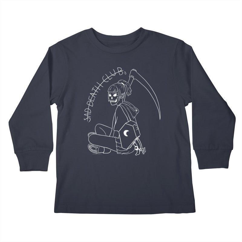 Sad death club Kids Longsleeve T-Shirt by ZOMBIETEETH