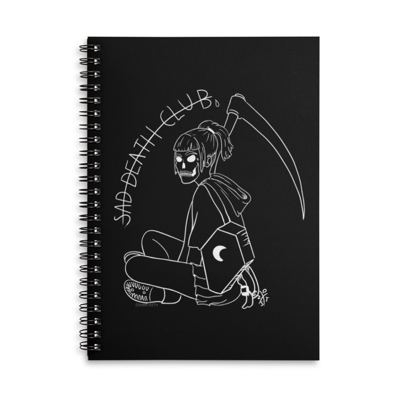 Sad death club Accessories Lined Spiral Notebook by ZOMBIETEETH