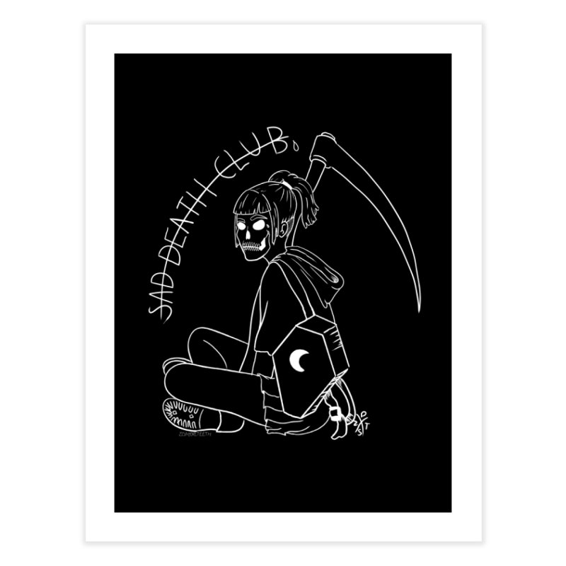 Sad death club Home Fine Art Print by ZOMBIETEETH