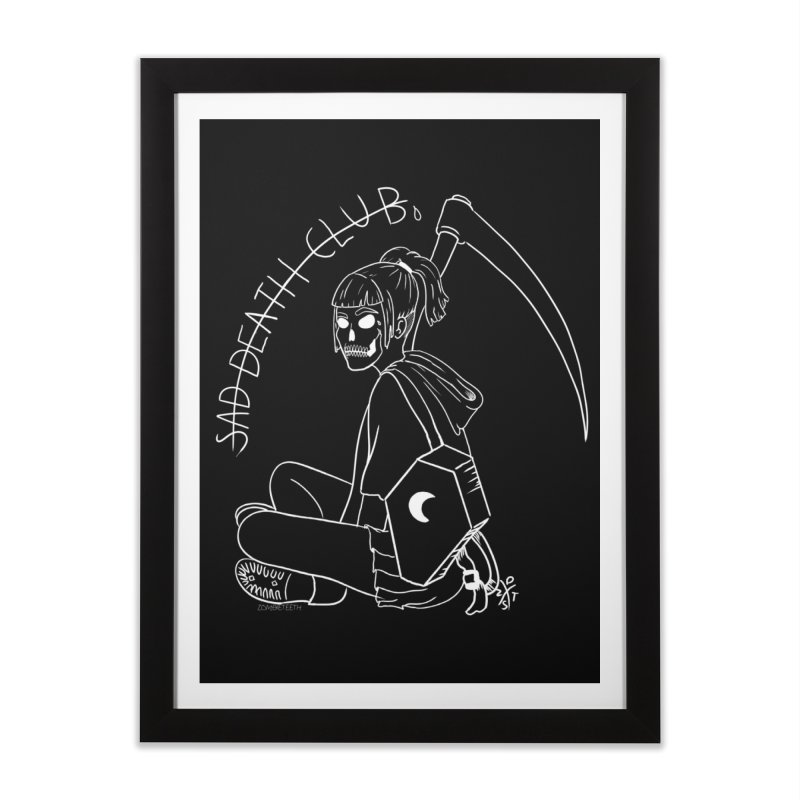 Sad death club Home Framed Fine Art Print by ZOMBIETEETH