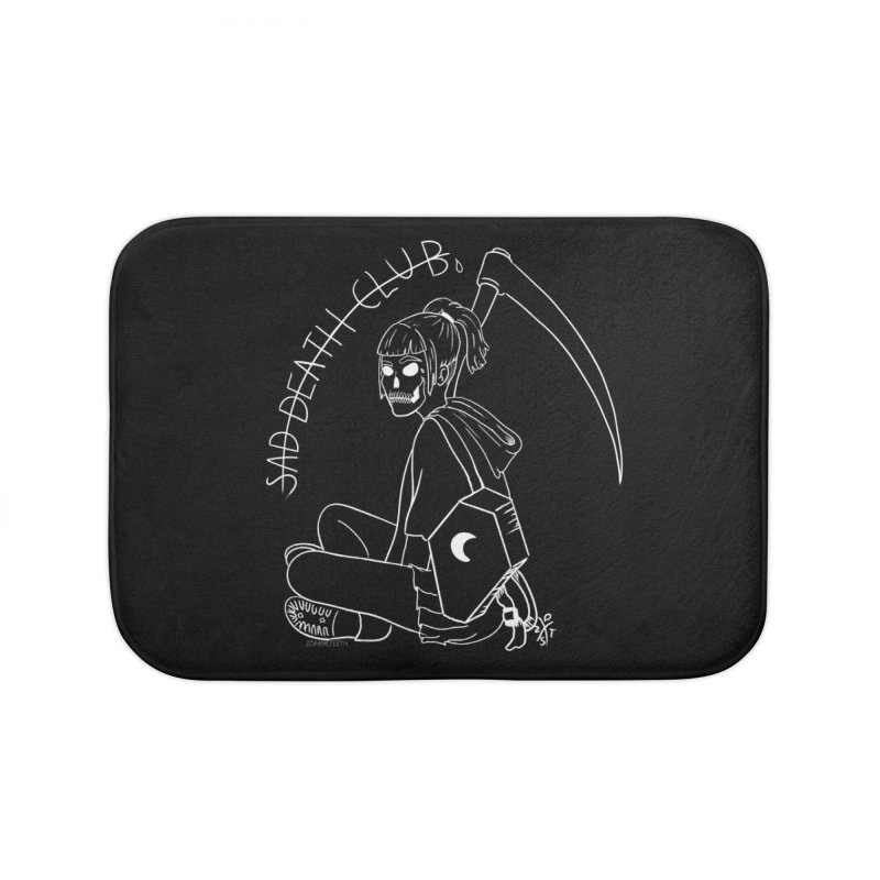 Sad death club Home Bath Mat by ZOMBIETEETH