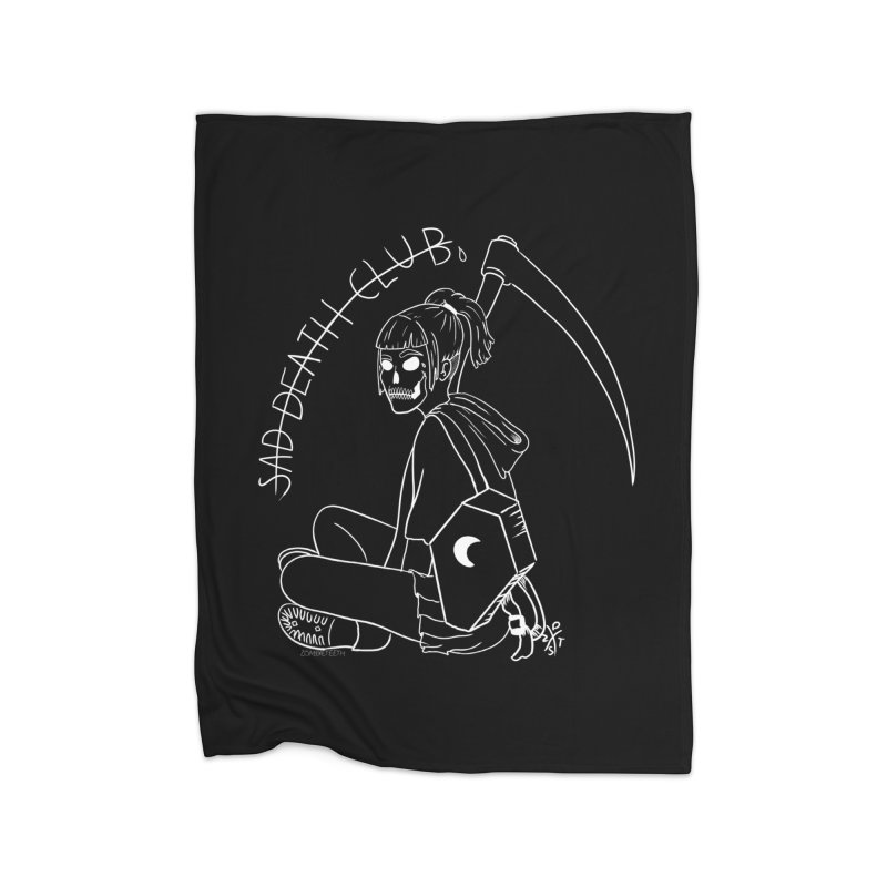 Sad death club Home Fleece Blanket Blanket by ZOMBIETEETH