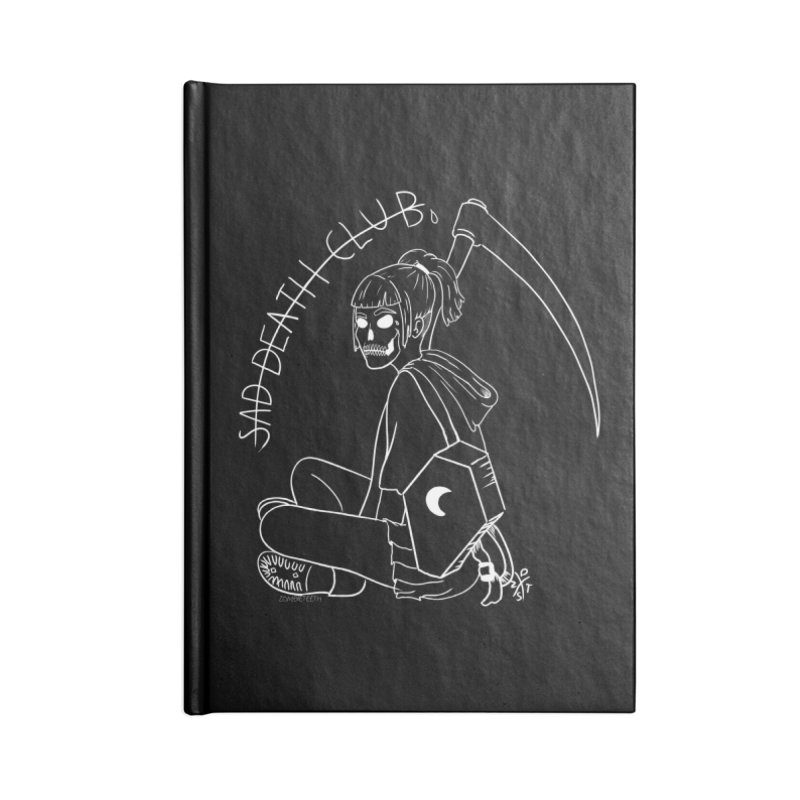 Sad death club Accessories Lined Journal Notebook by ZOMBIETEETH