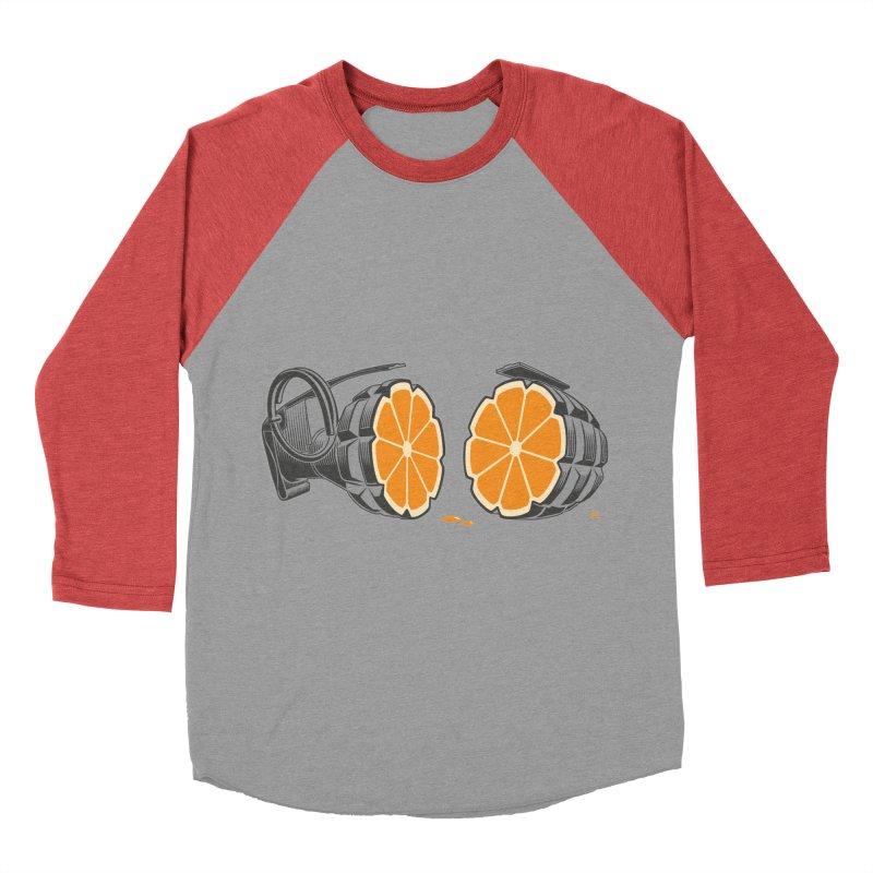 Make Juice Not War Men's Baseball Triblend Longsleeve T-Shirt by zomboy's Artist Shop