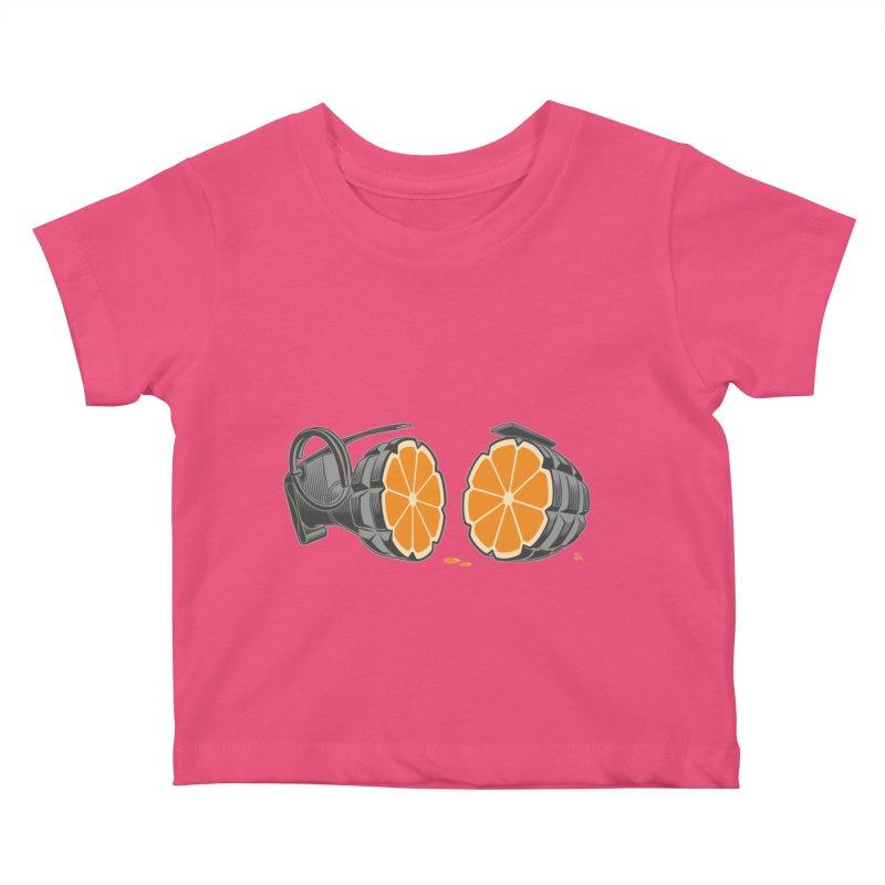 Make Juice Not War Kids Baby T-Shirt by zomboy's Artist Shop