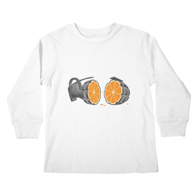 Make Juice Not War Kids Longsleeve T-Shirt by zomboy's Artist Shop