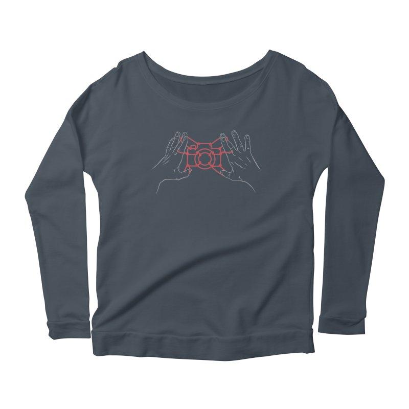 String Photography Women's Scoop Neck Longsleeve T-Shirt by zomboy's Artist Shop