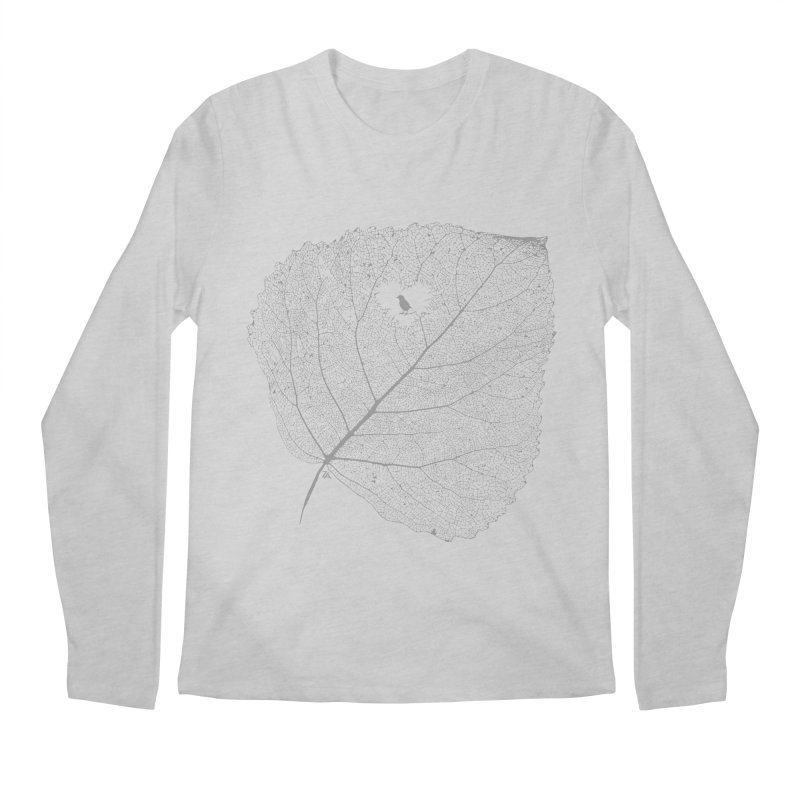 Ghost of Leaf and Feather Men's Regular Longsleeve T-Shirt by zomboy's Artist Shop
