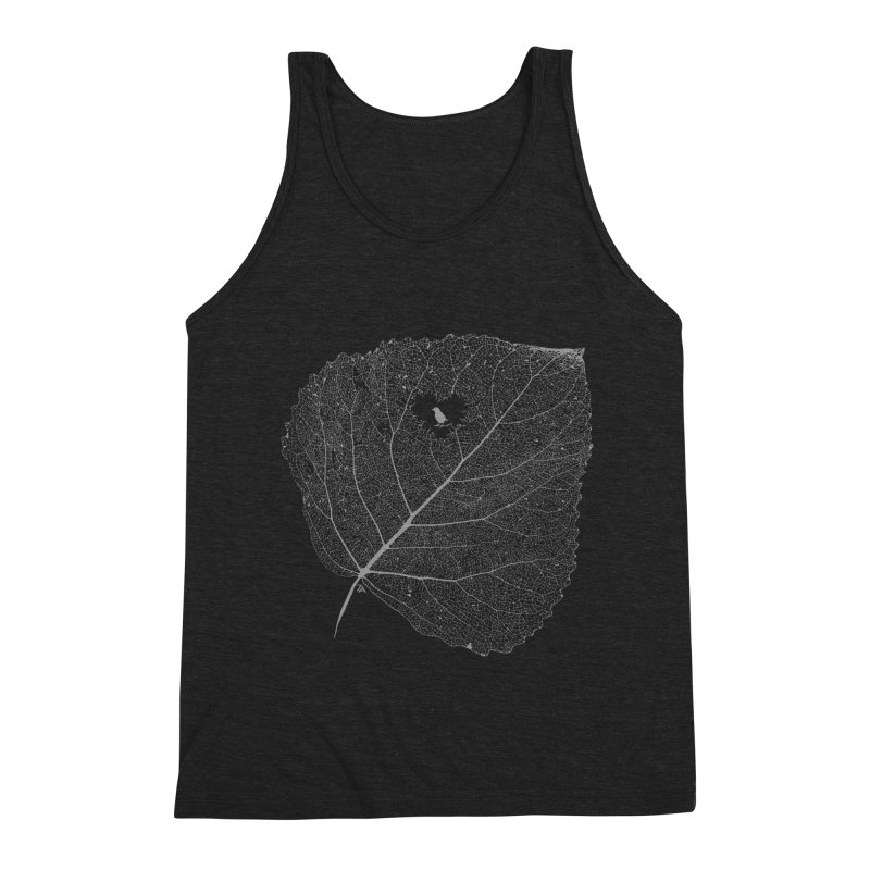 Ghost of Leaf and Feather Men's Triblend Tank by zomboy's Artist Shop