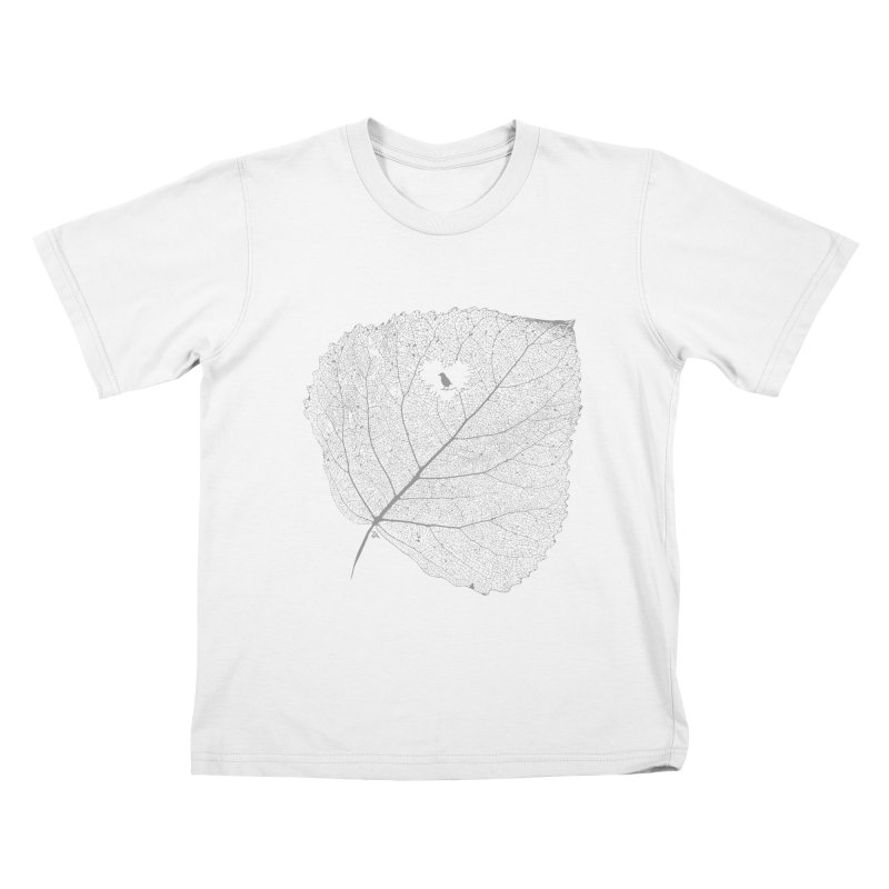 Ghost of Leaf and Feather Kids T-Shirt by zomboy's Artist Shop