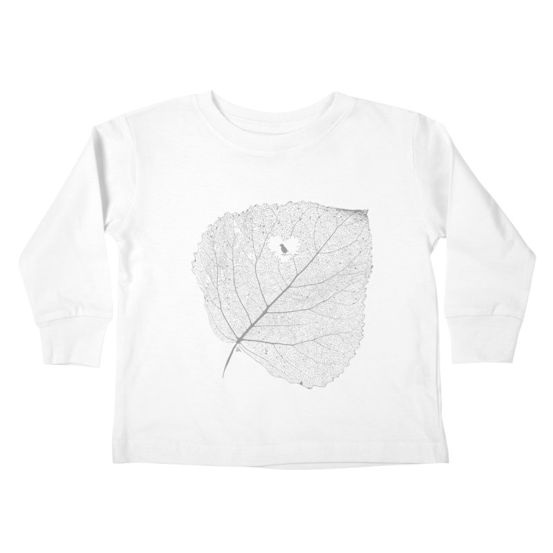 Ghost of Leaf and Feather Kids Toddler Longsleeve T-Shirt by zomboy's Artist Shop