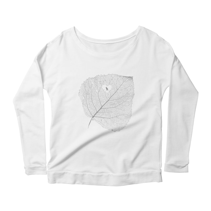 Ghost of Leaf and Feather Women's Scoop Neck Longsleeve T-Shirt by zomboy's Artist Shop
