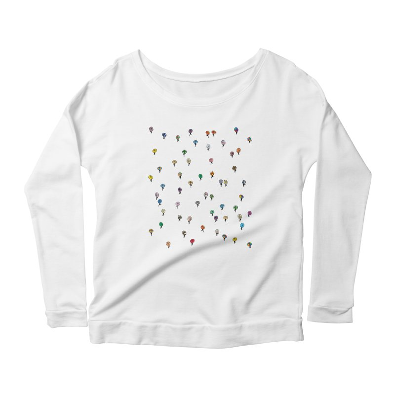 Walking Weather Pattern Women's Scoop Neck Longsleeve T-Shirt by zomboy's Artist Shop