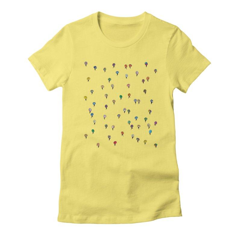 Walking Weather Pattern Women's Fitted T-Shirt by zomboy's Artist Shop